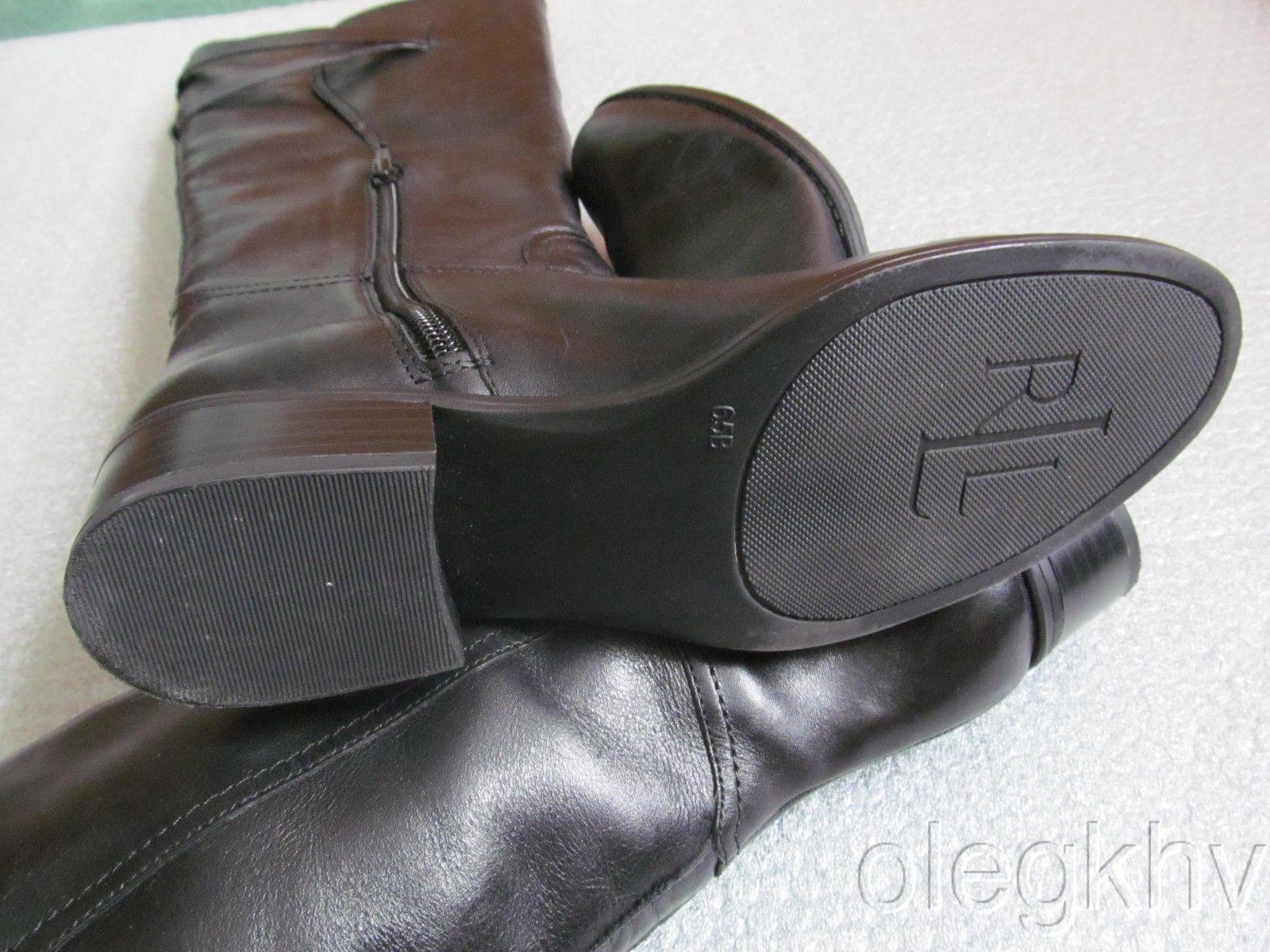 Nueva Con Talla Caja Ralph Lauren Maren bruñido Pantorrilla Cuero botas Talla Con 6.5 8b77e7