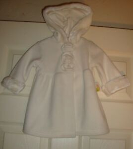 Able Starting/out~girl's~dressy/beige/fax/fur/trim/fleece/hood/coat! N/w/tags 6/mo By Scientific Process