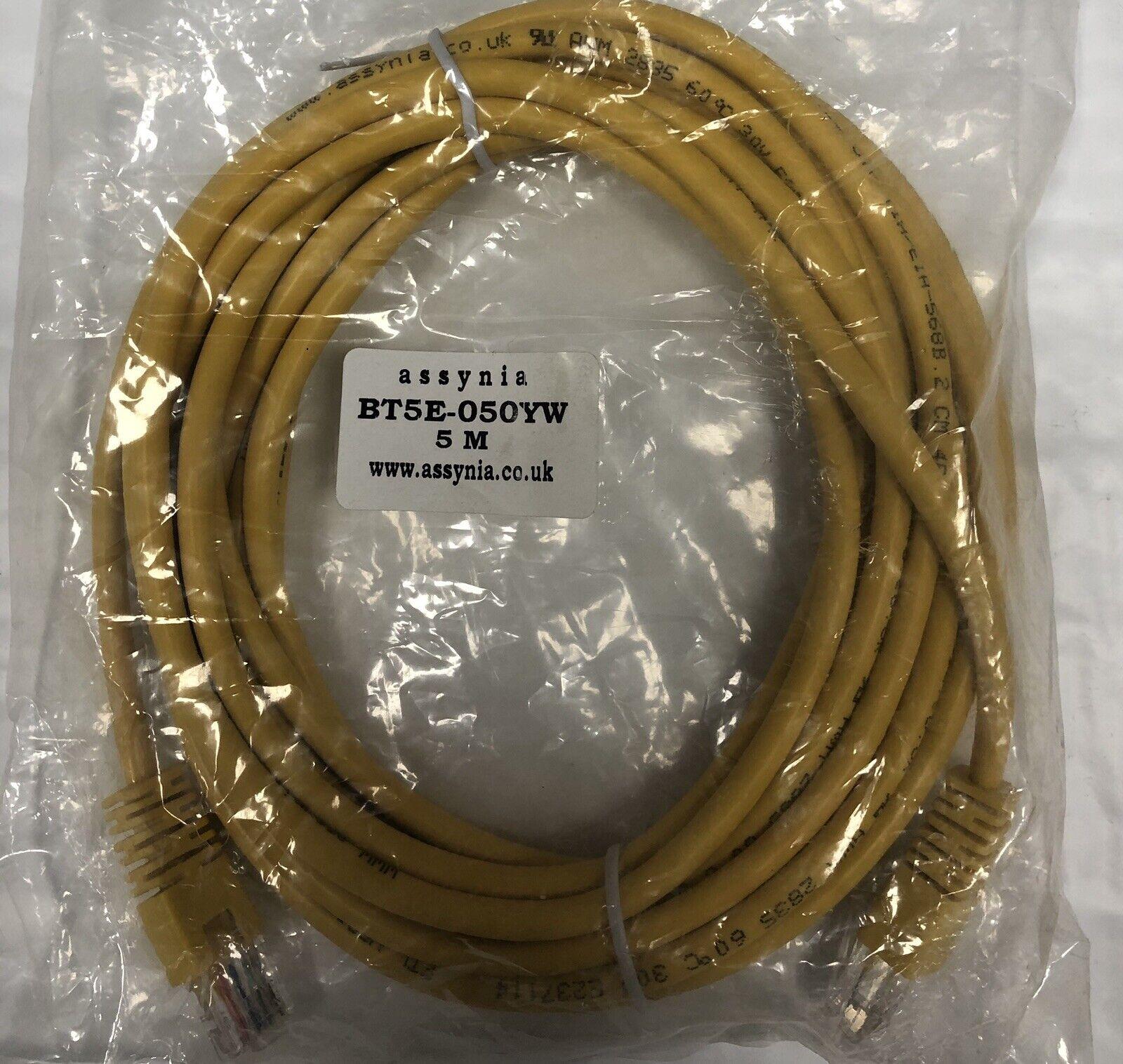 Assynia 5 metre Cat 5e Cable Yellow