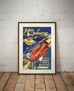 1950's Science Fiction POSTER! - (up to 24 x 36) - Vintage - Spaceship - SciFi