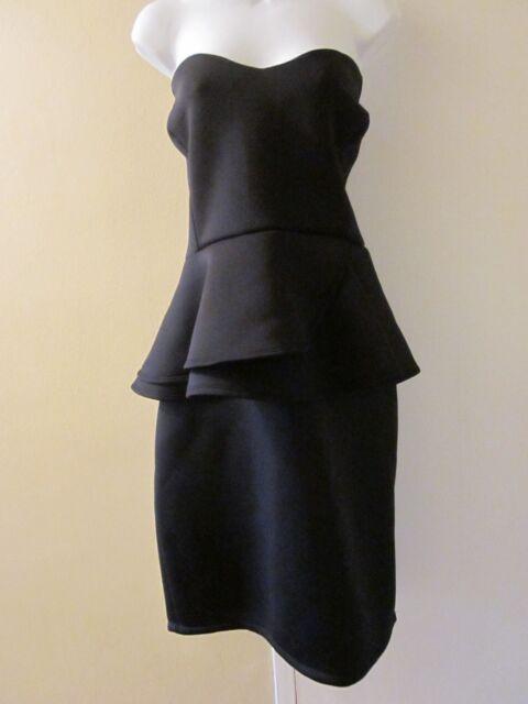 Fashion to Figure Plus Size Black Scuba Peplum Dress Size 3 22-24 ...