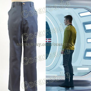 Image is loading Star-Trek-Into-Darkness-Spock-Kirk-Uniform-Outift- & Star Trek Into Darkness Spock Kirk Uniform Outift Attire Pants ...