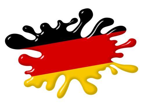 Grand 3D Imprimé Effet Rétro Splat Allemagne drapeau allemand Autocollant Voiture 210x140mm