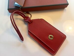 175-Loro-Piana-Red-Leather-Name-Tag-Made-in-Italy