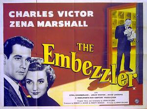EMBEZZLER-1954-Charles-Victor-Zena-Marshall-Peggy-Mount-UK-QUAD-POSTER