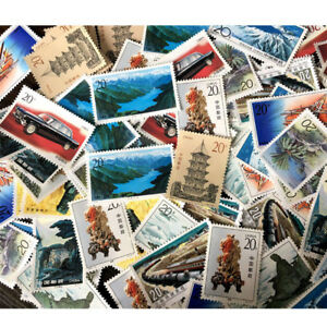 Random-China-Post-Stamp-Collection-Old-Value-Lots-Different-China-World-Stamps