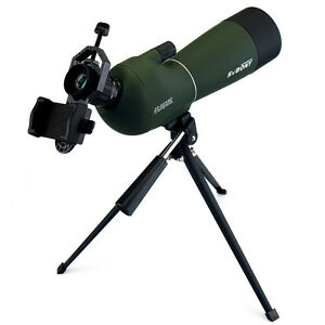20-60x60mm Angled Telescopes Spotting Scope Bak4 for Bird Watching+Phone Adapter 714559997956