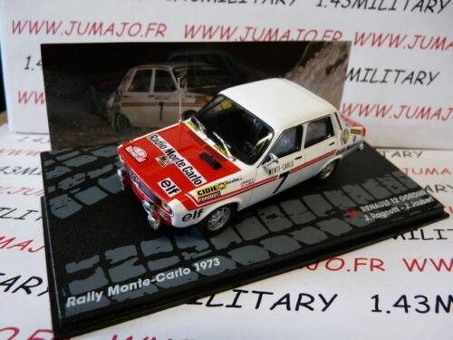 RIT37M 1//43 IXO Altaya Rallye RENAULT 12 gordini Monte Carlo 1973 Ragnotti #7