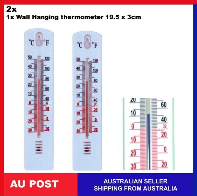2, 1 x Thermometer Indoor Outdoor Temperature Wall Hanging Room Sensor 19.5 x3cm