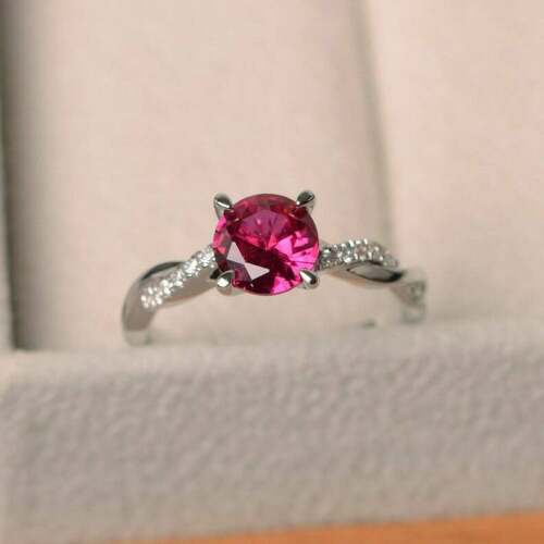 Details about  /925 Sterling Silver Certified Handmade 3 Ct Ruby Stone Oval Shape Ring For Her