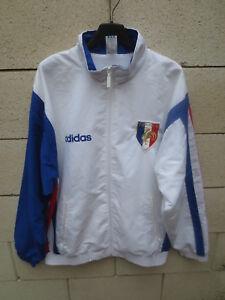 Blouson ADIDAS femme vintage années 90 bleu tracktop jacket