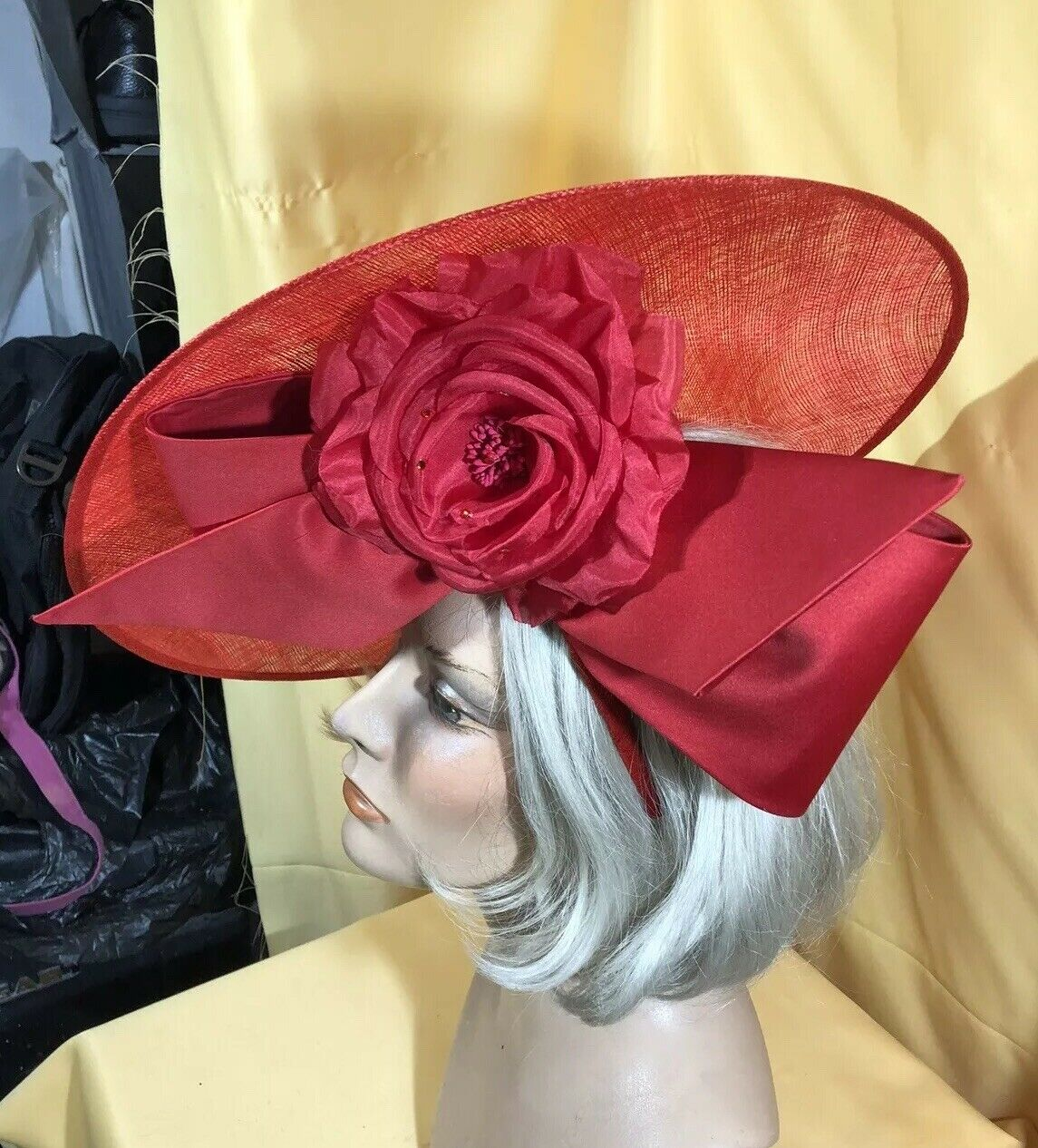 Assorted Colors Derby Cocktail Wedding Fascinator Hat w//Netting /& Headband N34