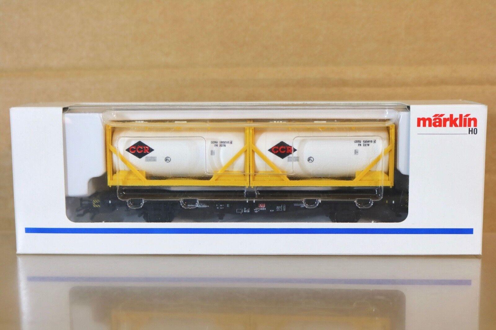 Marklin Märklin 48501 Sondermodell Db Ccr Conteneur Wagon Très Bon État en Boîte
