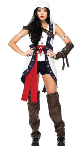 Assassins Creed CONNOR GIRL Adult Womens Costume