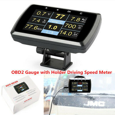Car Driving Computer OBD2 Digital Meter Gauge With Speed Meter Fuel Consumption