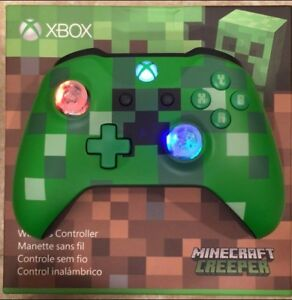 Details about Minecraft Creeper Limited Edition LED GLOWING MOD Xbox One  Controller