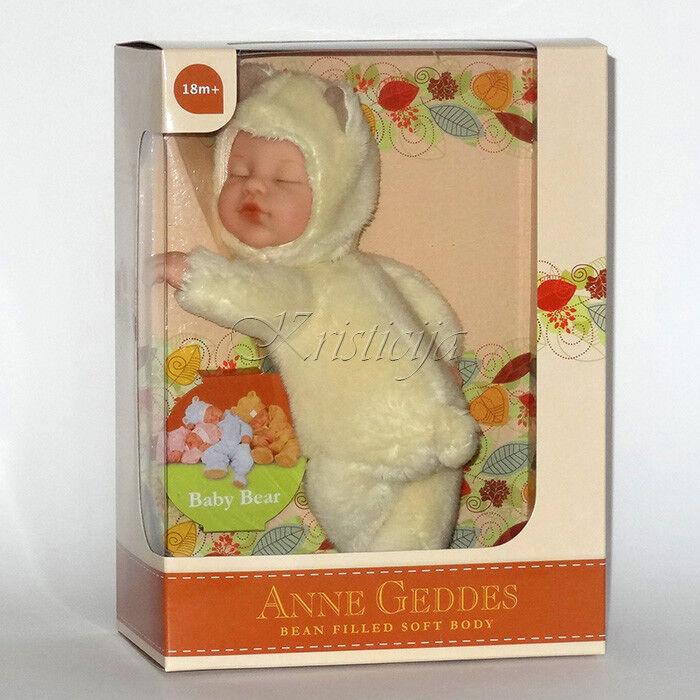 Anne Geddes Puppen' Bohne Gefüllt' Sammlung Neu in Karton Baby Bär Gelb Puppe    Qualität Produkte