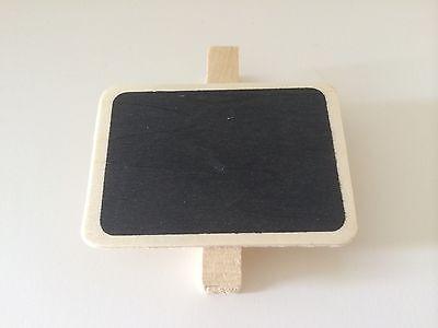10 Mini Clip On Blackboard/Chalkboard For Wedding/Party Lolly Buffets Table