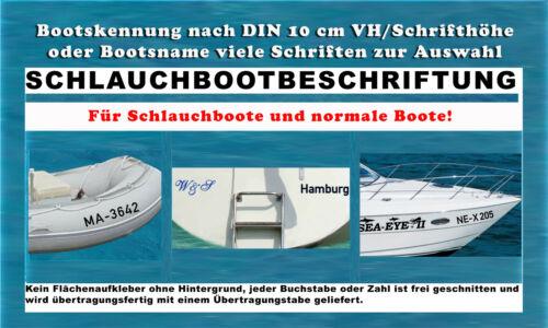 Bootsteile & Zubehör Bootkennzeichnung Jetski Bootbeschriftung n Vorschrift 10 cm Initialien Zahl