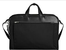 NWT Tumi Arrive Barkley Tri-Fold Carry-On Garment Bag - Black w/Leather 255070D2