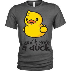 I-Don-039-T-Give-un-Duck-T-Shirt-Maleducato-Scherzo-Divertente-Novita-Unisex-Uomo