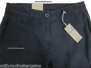 Nueva-camiseta-para-mujer-chino-Lino-Azul-Marks-amp-Spencer-Pantalones-Tamano-12-pierna-29