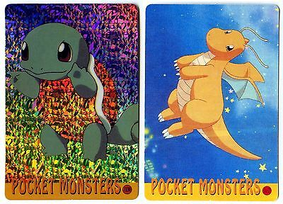 PROMO POKEMON JAPANESE DOUBLE SIDE CARD HOLO N° 1130 1132 SQUIRTLE DRAGONITE