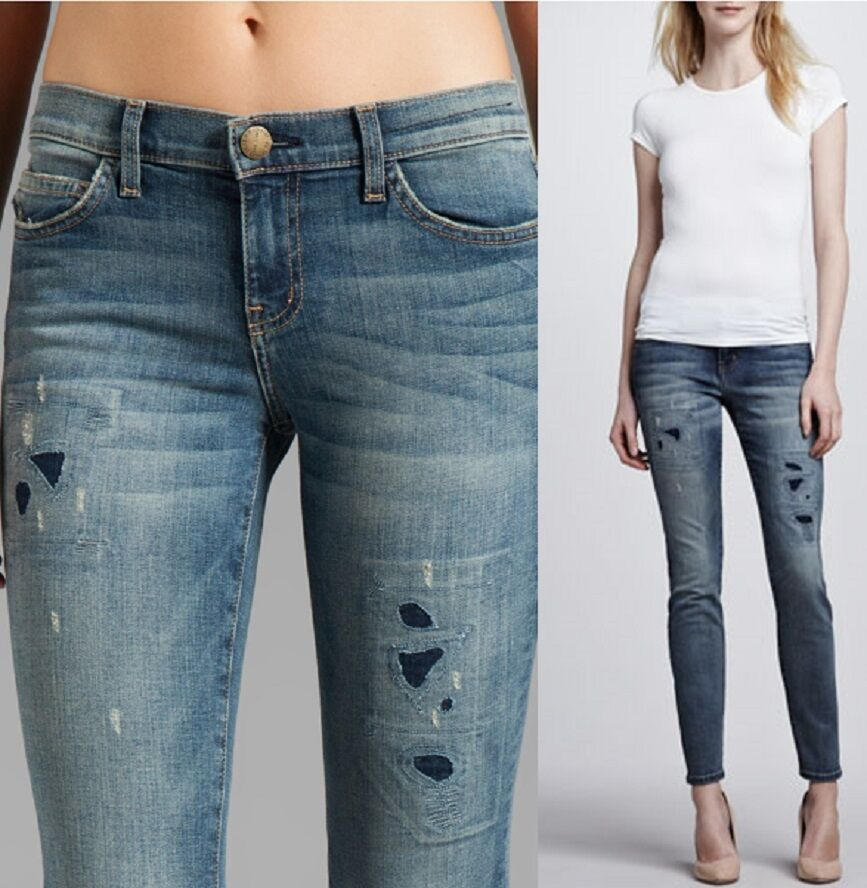 Current Elliott The Ankle Skinny Jeans, Pixie with Repair Wash MSRP  258.00