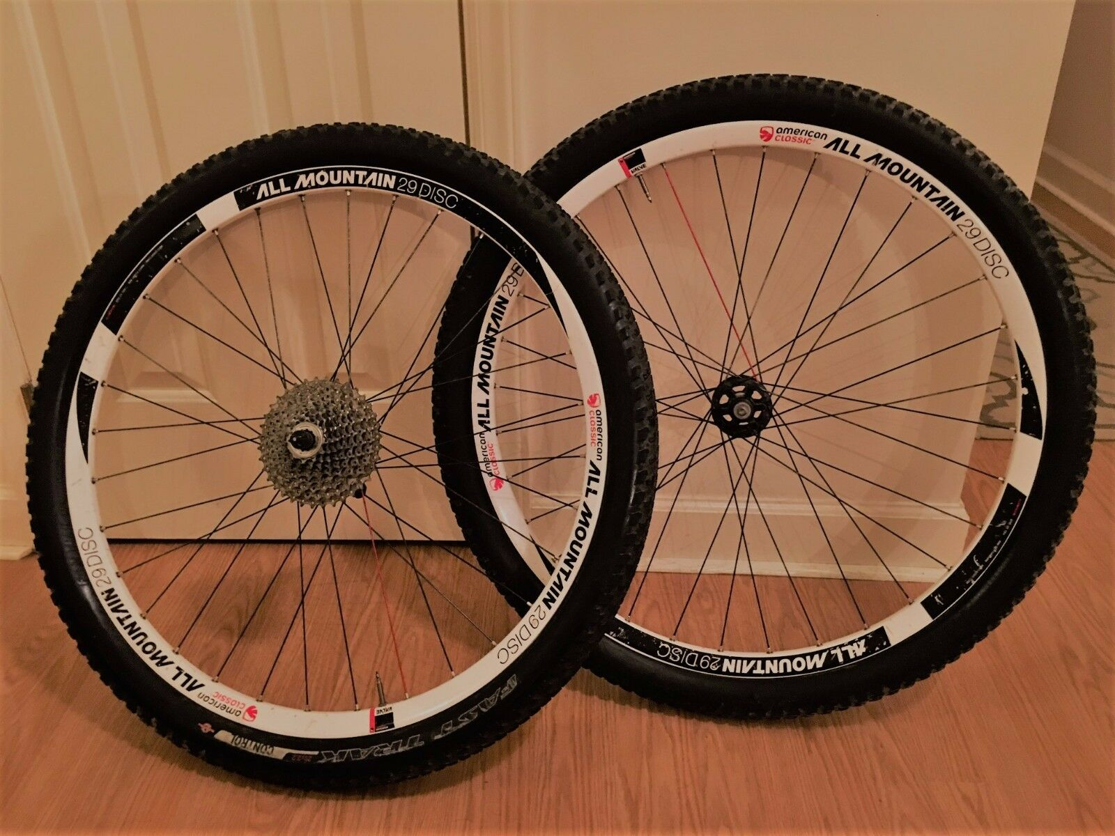 American Classic 29  All Mountain Disc Wheelset,Tires and Cassette - ERD29 594