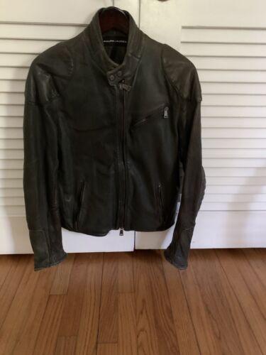 Ralph Lauren Black Label leather racing jacket siz