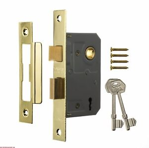 Image is loading ERA-3-LEVER-Mortice-Door-Lock-Sashlock-Deadlock-  sc 1 st  eBay & ERA 3 LEVER Mortice Door Lock Sashlock Deadlock Brass or Chrome ...