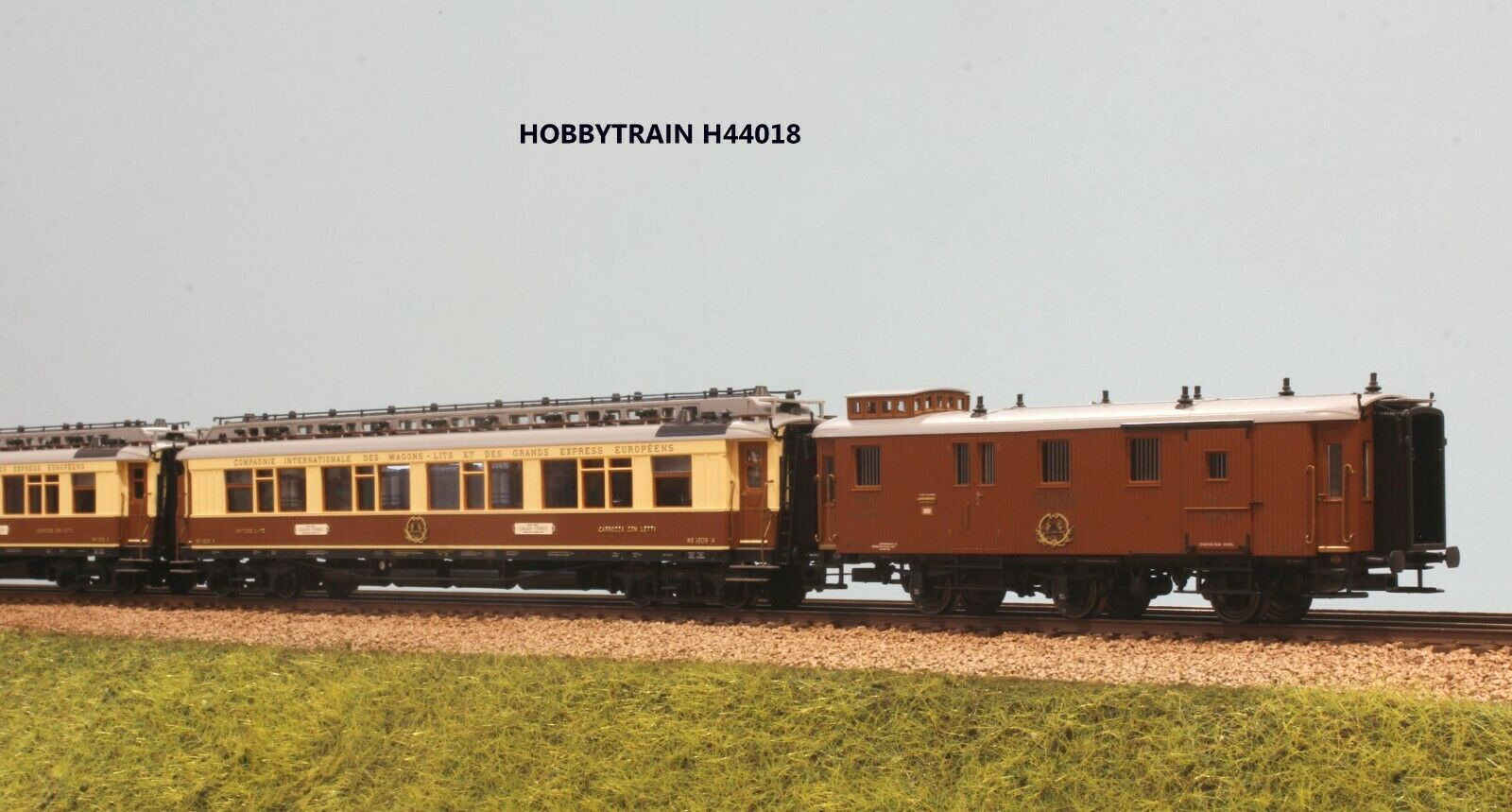 HOBBYTRAIN H 44018 SET 3 CocheROZZE CIWL  SIMPLON EXPRESS CALAIS VENEZIA EP. I