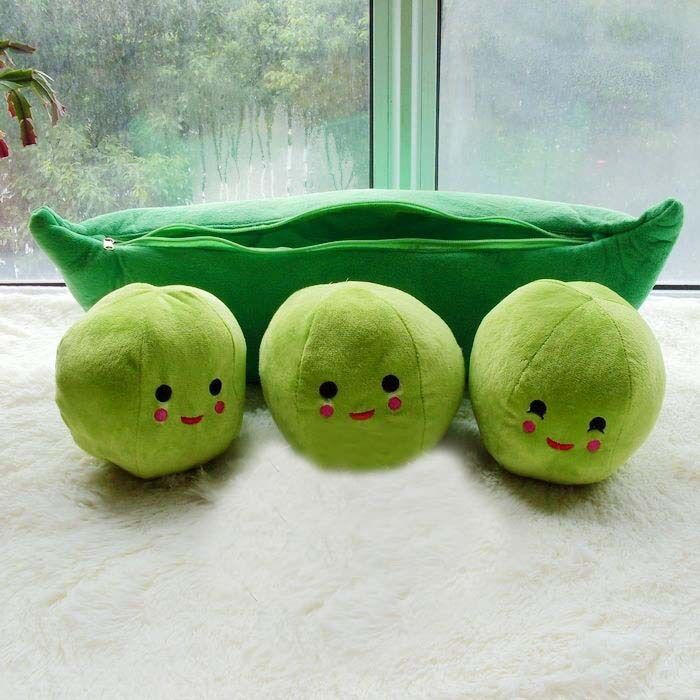 Green Large Mini Toy Story 3 Peas in a Pod Soft Plush Beans Cuddle Pillow
