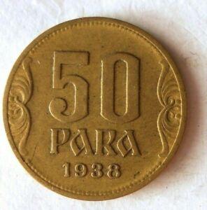 Excellent Vintage Coin Yugoslavia Bin FREE SHIP 1938 YUGOSLAVIA 50 PARA