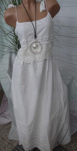 36-44 Aniston Kleid Maxikleid Lagen Look weiß Gr mit Spitze NEU 305