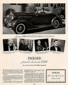 Details about 1935 Packard Lawrence Tibbett Convertible Coupe Print Ad