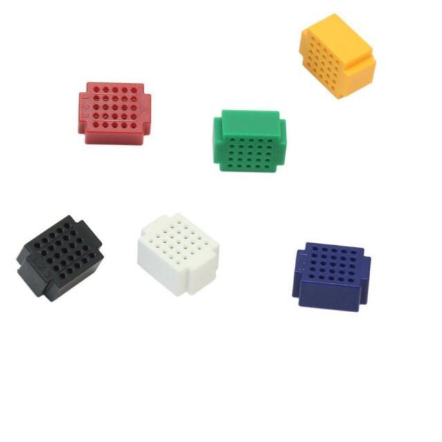 7pcs Mini 25 Points Breadboard Solderless Prototype Tie-point For Arduino NEW