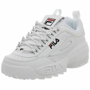 Details about Fila Disruptor II White/Navy/Red Men's Athletic/Running Shoes  FW01655-111 New