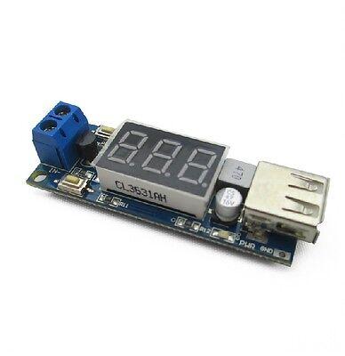 1PCS DC-DC 4.5-40V To 5V 2A USB Charger Step down Converter Voltmeter Module