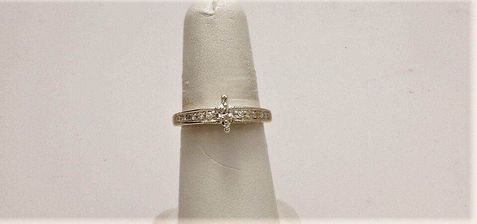 1 4 TCW Marquis Diamond Engagement Ring on a 10Kt. White gold Semi Mounting