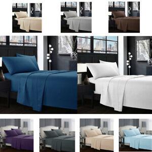 Egyptian-Comfort-1800-Count-4-Piece-Deep-Pocket-Bed-Sheet-Set-King-Queen-Size-H6