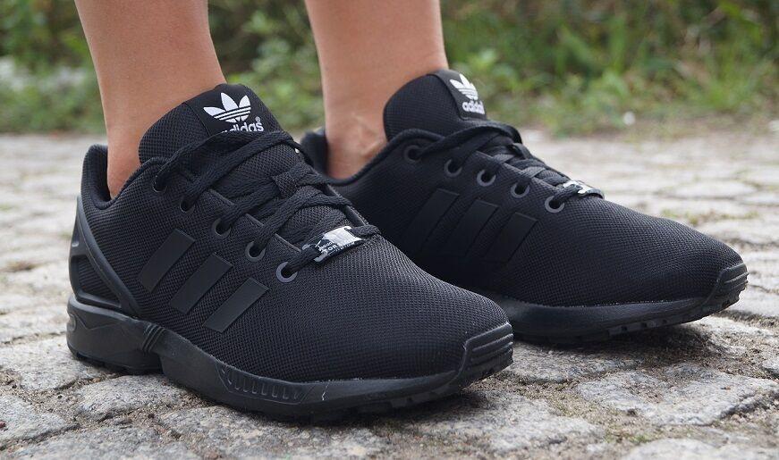 Nuevo zapatos adidas ZX Flux K cortos señora zapatillas de deporte deporte negro s82695 sale