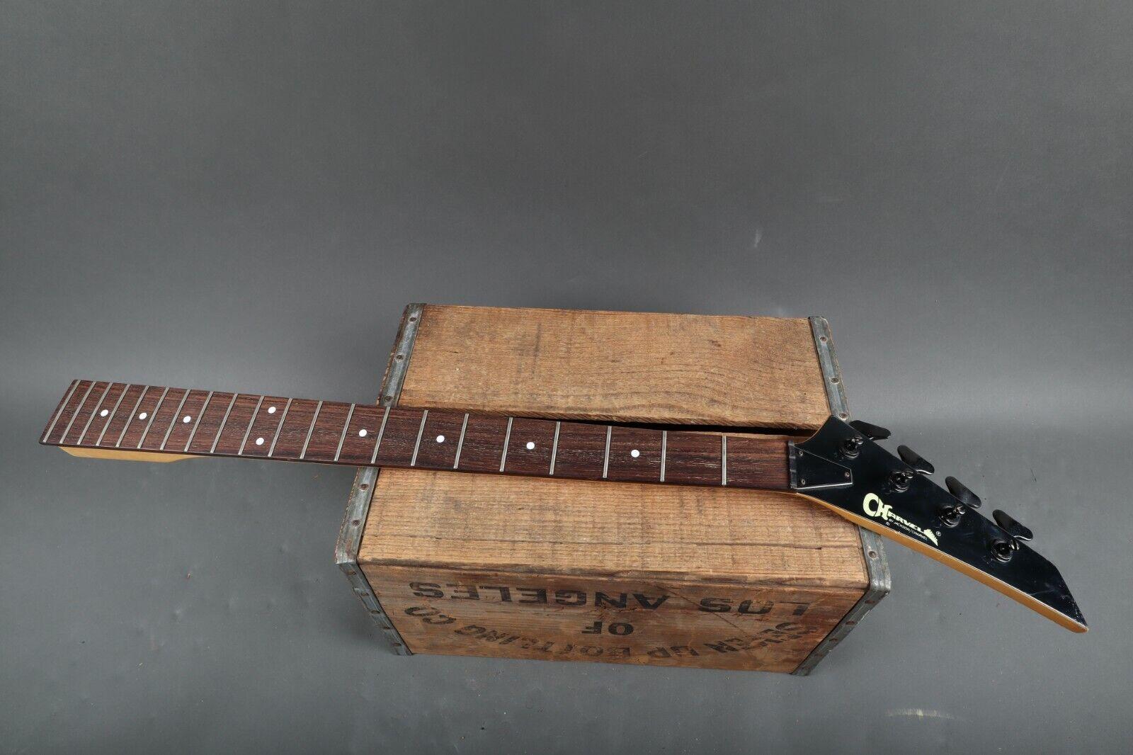 Charvel Model 2B 4 String Bass Guitar Neck w  OHSC Pearl Weiß Inlays w  Tuners