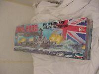 Hms Hood Battleship Ww2 Ii Model Kit Sealed 1/400 Scale Lindberg English