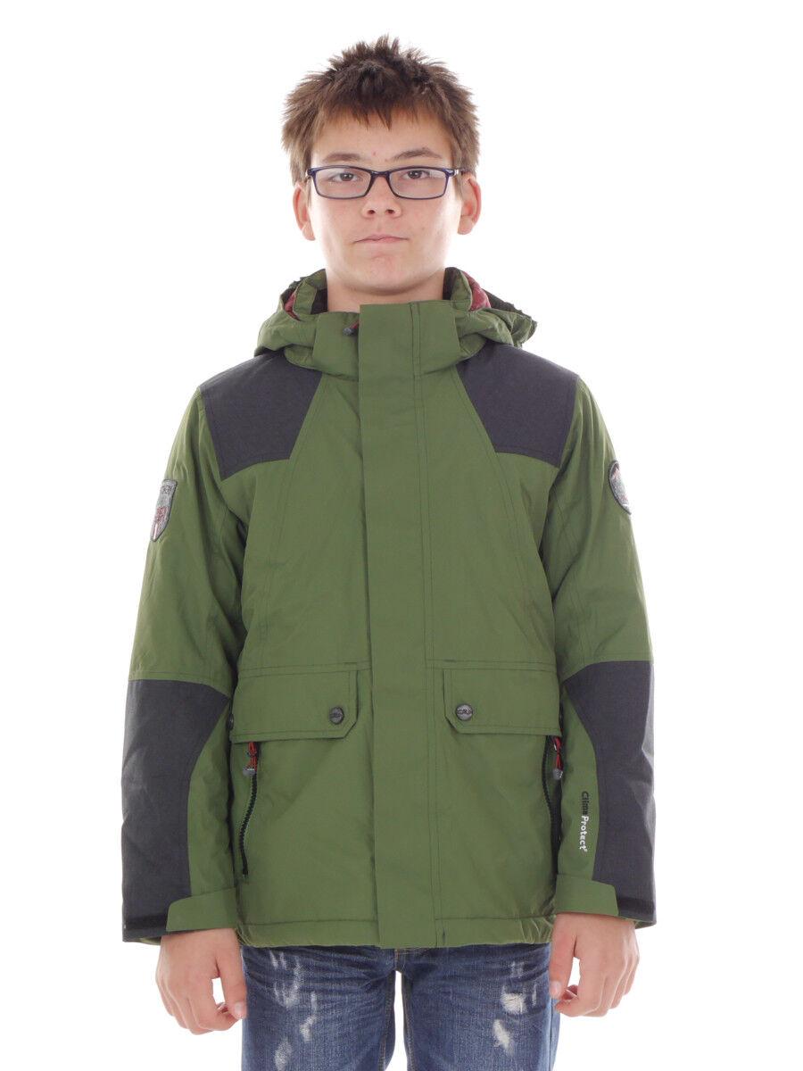 Funzione CMP Giacca con cappuccio giacca transizione giacca verde ClimaProtect ®