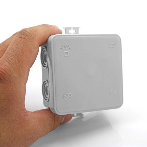 8x Abzweigdose IP55 75 x 75 x 40 mm Aufputz Feuchtraumdose ARLI Verteiler Dose