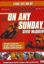 On Any Sunday 3 Disc Box Set DVD R2 UK NEW Steve McQueen