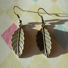 Bronze Leaf Earrings.  Detailed and Beautiful!