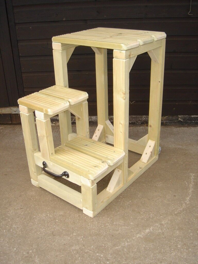 Mounting Steps Block Quality Half & Half 36  high Movable Heavy duty Shows
