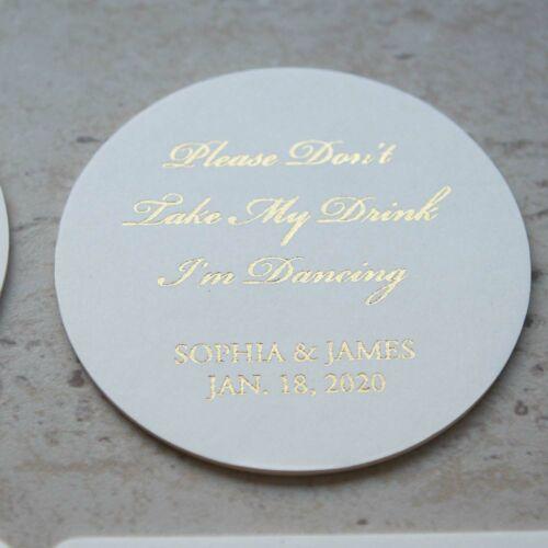 Bachelorett Don/'t take my drink I/'m dancing Coaster Real Foil Custom Coasters